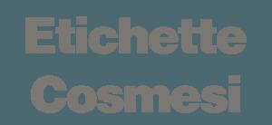 ETICHETTE COSMESI